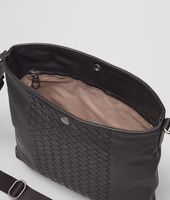 Nero Intrecciato Washed Nappa Cross Body Messenger