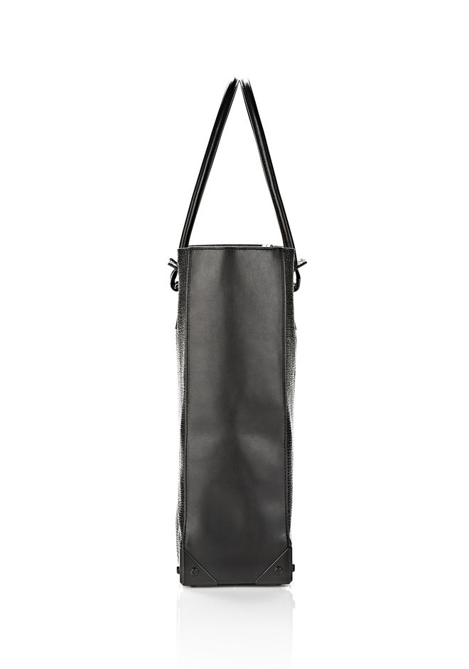 ALEXANDER WANG PRISMA TOTE  IN GRID EMBOSSED BLACK TOTE Adult 12_n_d