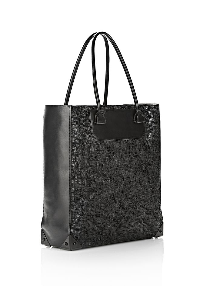 ALEXANDER WANG PRISMA TOTE  IN GRID EMBOSSED BLACK TOTE Adult 12_n_e