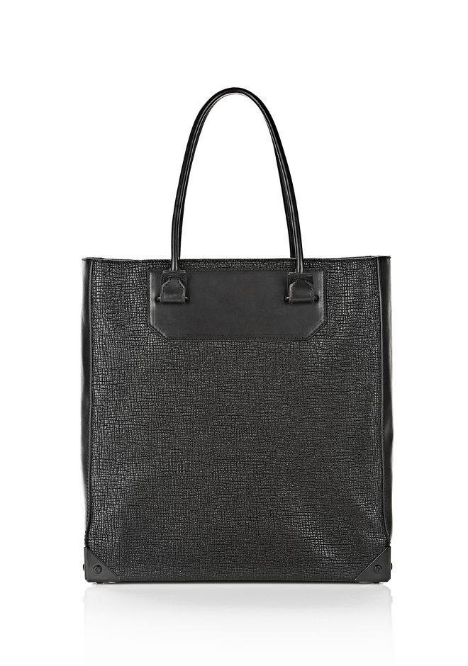 ALEXANDER WANG PRISMA TOTE  IN GRID EMBOSSED BLACK TOTE Adult 12_n_f