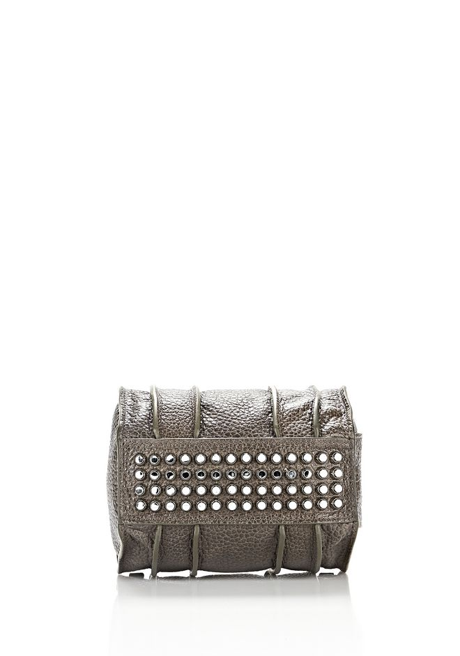 ALEXANDER WANG INSIDE-OUT ROCKIE IN GUNPOWDER WITH RHODIUM Shoulder bag Adult 12_n_d
