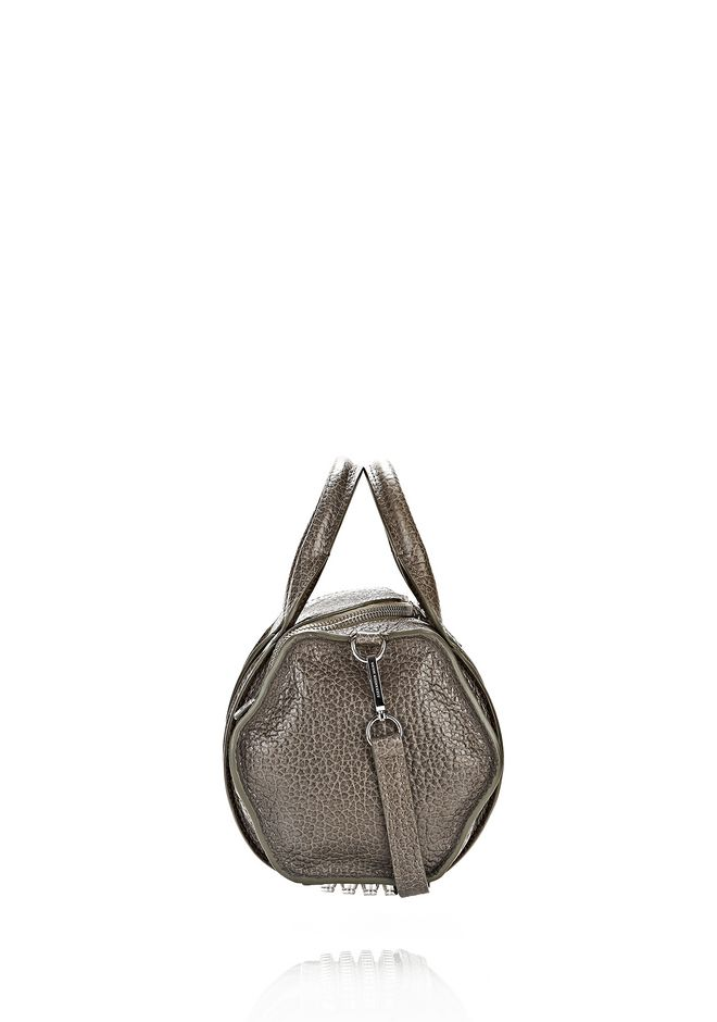 ALEXANDER WANG INSIDE-OUT ROCKIE IN GUNPOWDER WITH RHODIUM Shoulder bag Adult 12_n_e