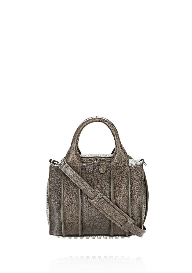 ALEXANDER WANG INSIDE-OUT ROCKIE IN GUNPOWDER WITH RHODIUM
