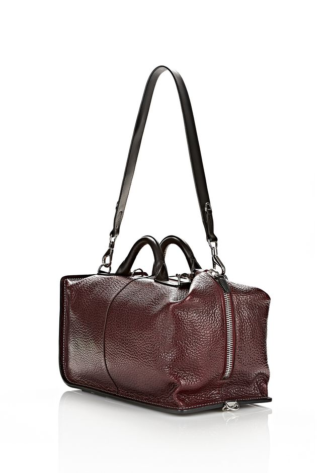 OPANCA DUFFLE IN CORDOVAN WITH RHODIUM