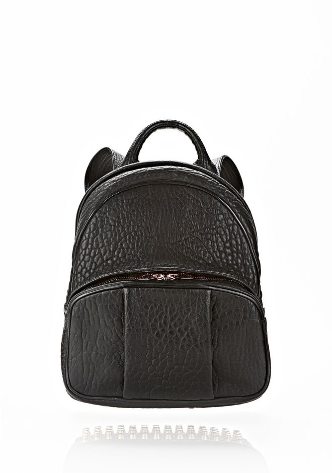 ALEXANDER WANG DUMBO BACKPACK IN BLACK WITH ROSE GOLD BACKPACK Adult 12_n_f