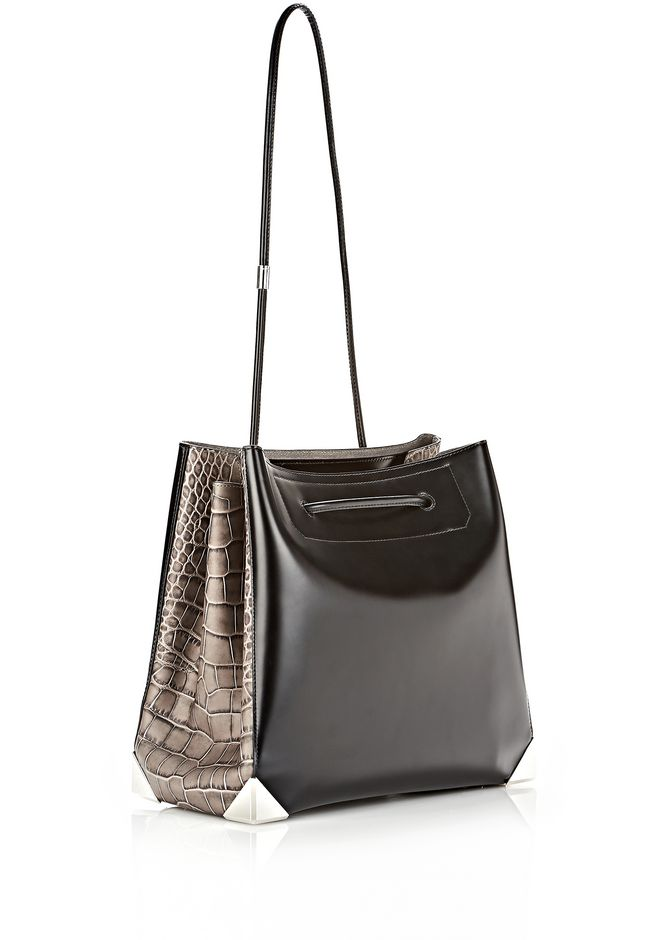 ALEXANDER WANG PRISMA LARGE TOTE IN EMBOSSED OYSTER TOTE Adult 12_n_a