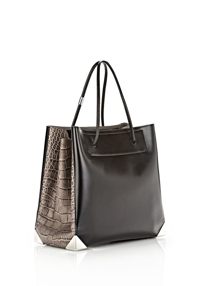 ALEXANDER WANG PRISMA LARGE TOTE IN EMBOSSED OYSTER TOTE Adult 12_n_e