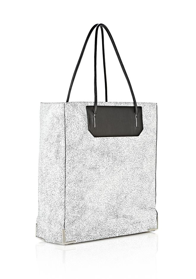 ALEXANDER WANG PRISMA SKELETAL TOTE IN MATTE CRACKED PEROXIDE WITH RHODIUM TOTE Adult 12_n_e