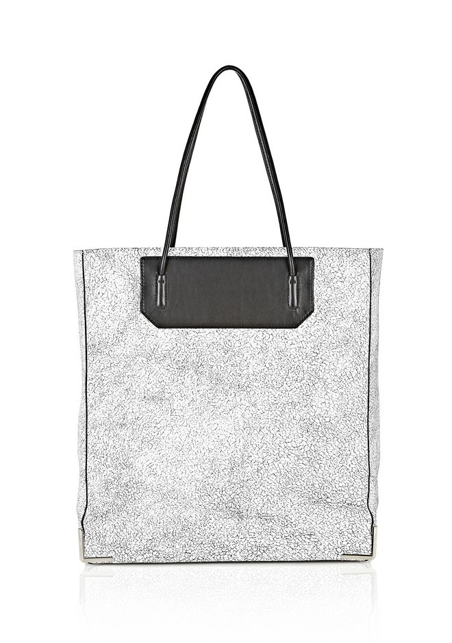 ALEXANDER WANG PRISMA SKELETAL TOTE IN MATTE CRACKED PEROXIDE WITH RHODIUM TOTE Adult 12_n_f