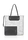 ALEXANDER WANG PRISMA SKELETAL TOTE IN MATTE CRACKED PEROXIDE WITH RHODIUM TOTE Adult 8_n_d