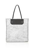 ALEXANDER WANG PRISMA SKELETAL TOTE IN MATTE CRACKED PEROXIDE WITH RHODIUM TOTE Adult 8_n_f