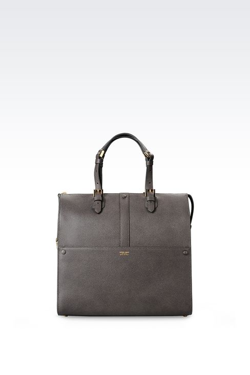 MEDIUM TOTE GIORGIO ARMANI BORGONUOVO BAG: Bowling bags Women by Armani - 1