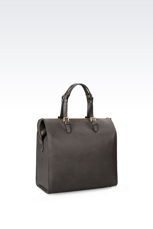 MEDIUM TOTE GIORGIO ARMANI BORGONUOVO BAG: Bowling bags Women by Armani - 2