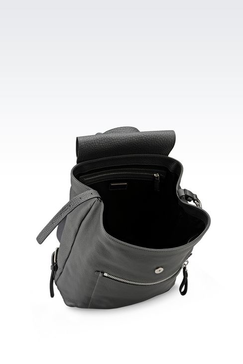 BACKPACK IN PRINTED CALFSKIN: Backpacks Men by Armani - 3