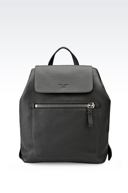 BACKPACK IN PRINTED CALFSKIN: Backpacks Men by Armani - 1