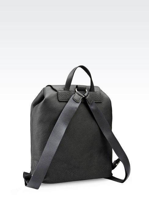 BACKPACK IN PRINTED CALFSKIN: Backpacks Men by Armani - 2