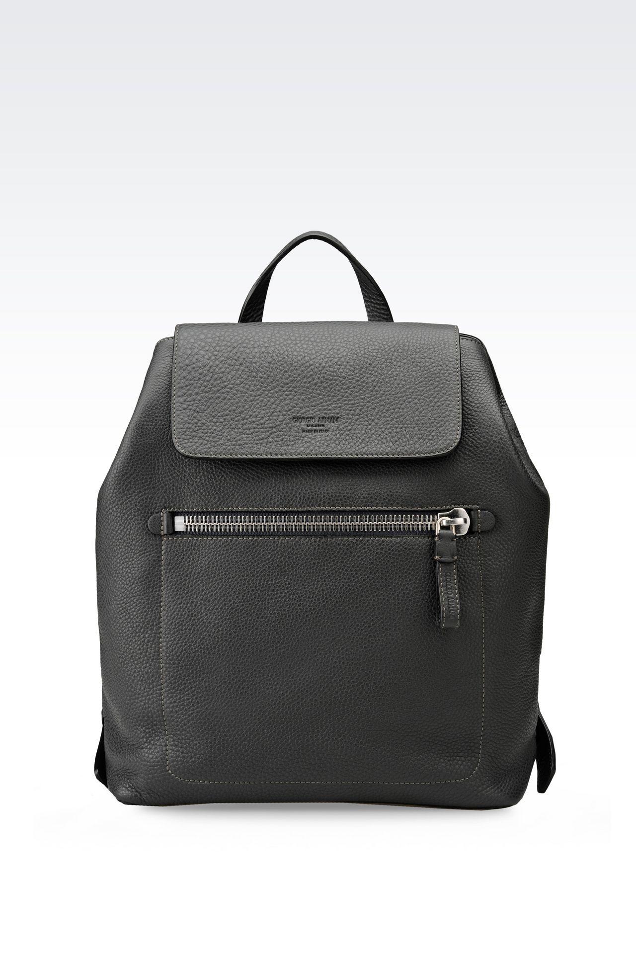BACKPACK IN PRINTED CALFSKIN: Backpacks Men by Armani - 0
