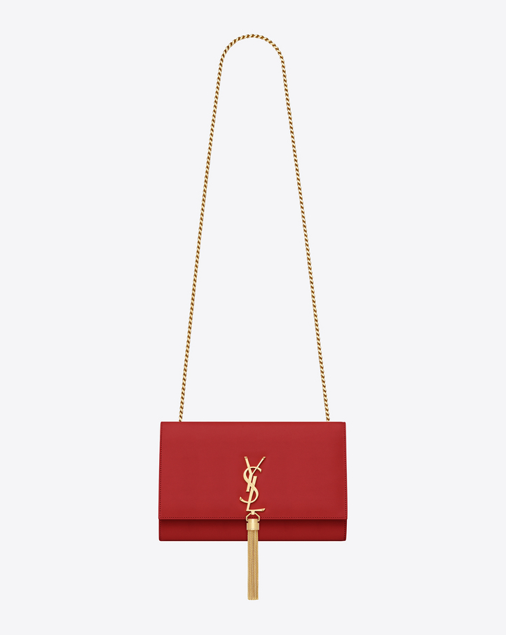 Saint Laurent Classic Medium Monogram Saint Laurent Tassel Satchel ...