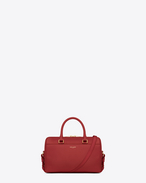 CLASSIC BABY DUFFLE BAG IN Lipstick Red LEATHER