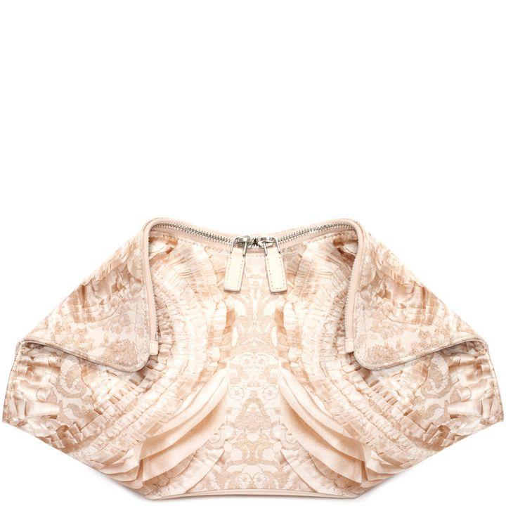Alexander McQueen, Lace Print De Manta Clutch