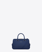 Classic Baby Duffle Bag in Blue Leather