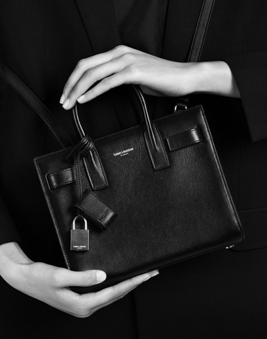 fake yves saint laurent bags - classic small sac de jour bag in fog grained leather
