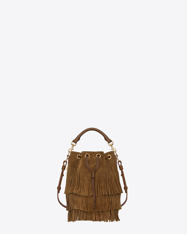Bucket bag fringes