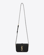 Classic Small Monogram Saint Laurent Université Bag in Black Leather