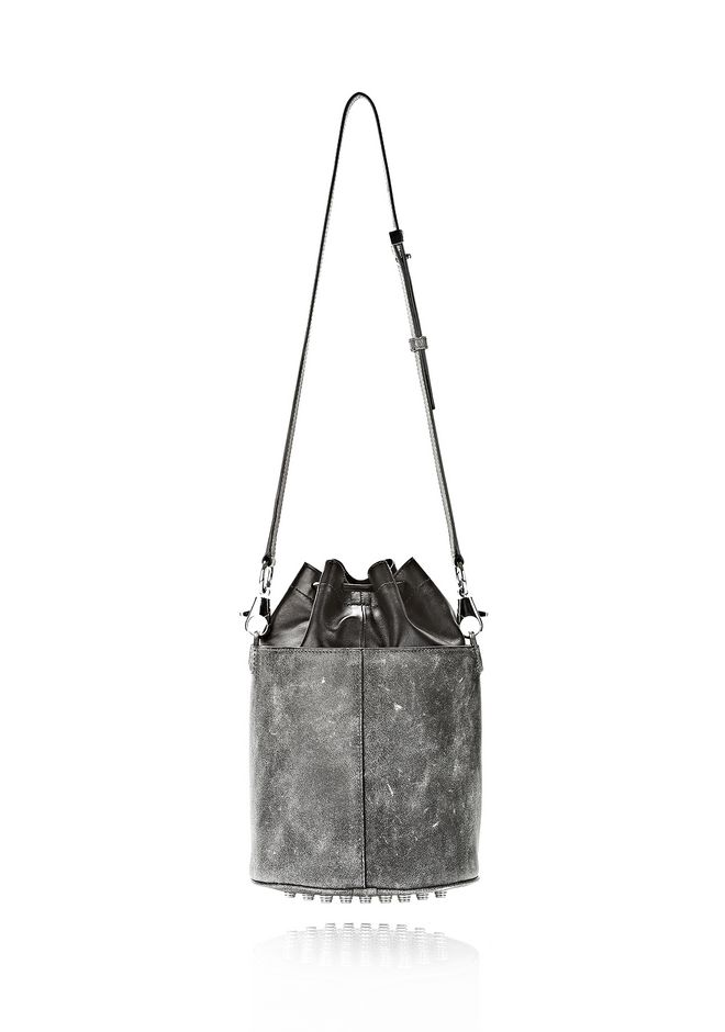ALEXANDER WANG EXCLUSIVE DISTRESSED BUCKET BAG IN EROSION  Shoulder bag Adult 12_n_a