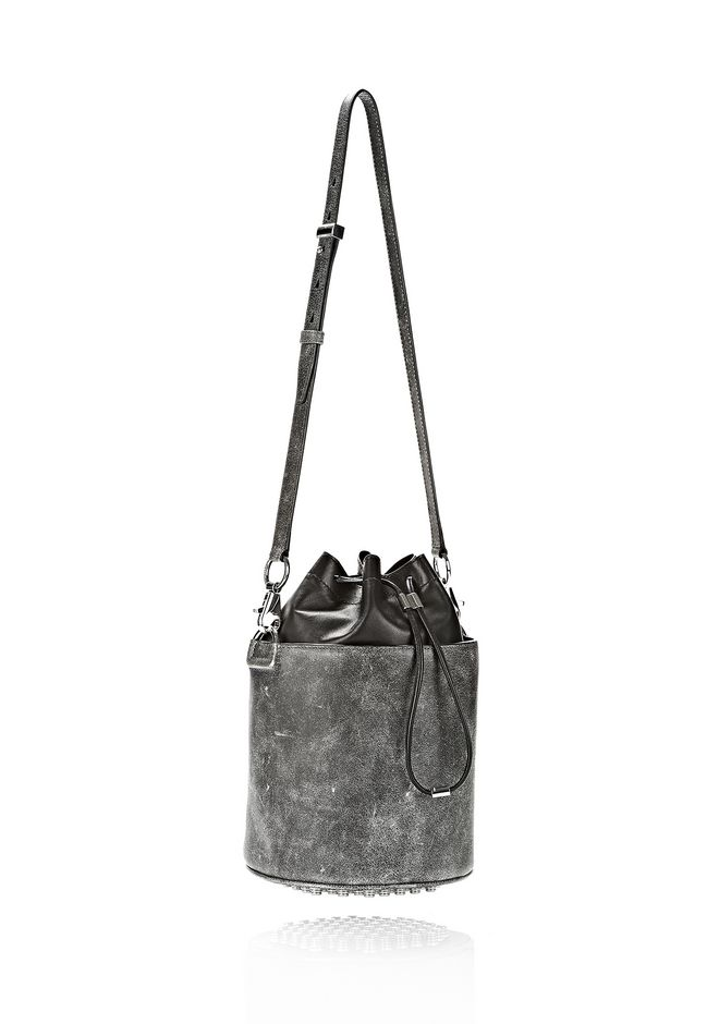 ALEXANDER WANG EXCLUSIVE DISTRESSED BUCKET BAG IN EROSION  Shoulder bag Adult 12_n_d