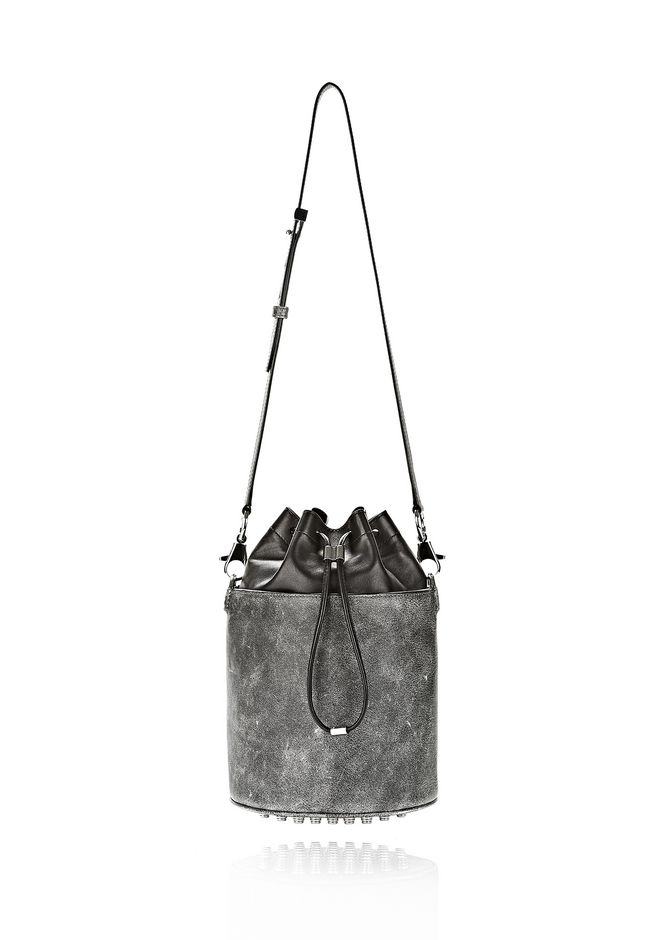 ALEXANDER WANG EXCLUSIVE DISTRESSED BUCKET BAG IN EROSION  Shoulder bag Adult 12_n_f