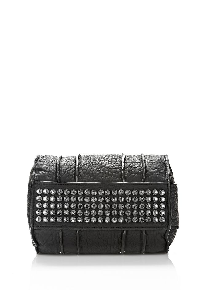 ALEXANDER WANG INSIDE OUT ROCCO IN BLACK RUBBER LAMINATED Shoulder bag Adult 12_n_d