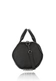 ALEXANDER WANG INSIDE OUT ROCCO IN BLACK RUBBER LAMINATED Shoulder bag Adult 8_n_e