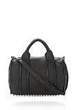 ALEXANDER WANG INSIDE OUT ROCCO IN BLACK RUBBER LAMINATED Shoulder bag Adult 8_n_f