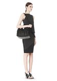 ALEXANDER WANG INSIDE OUT ROCCO IN BLACK RUBBER LAMINATED Shoulder bag Adult 8_n_r