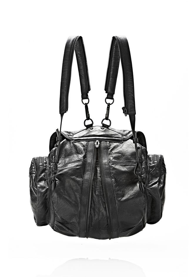 ALEXANDER WANG MARTI BACKPACK IN BLACK WITH MATTE BLACK BACKPACK Adult 12_n_e