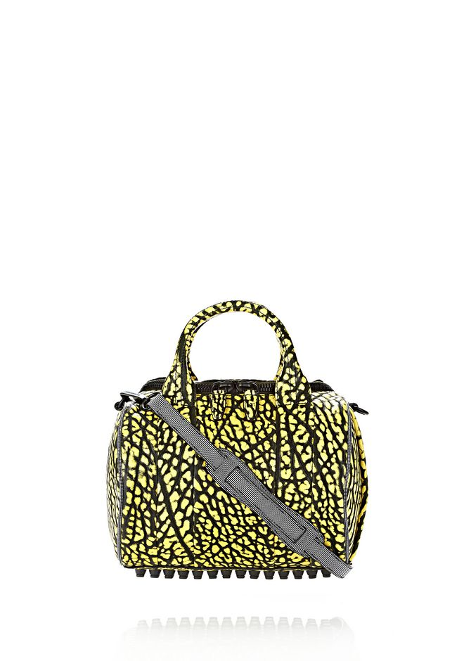 ALEXANDER WANG ROCKIE SLING IN CONTRAST TIP CITRON Shoulder bag Adult 12_n_f