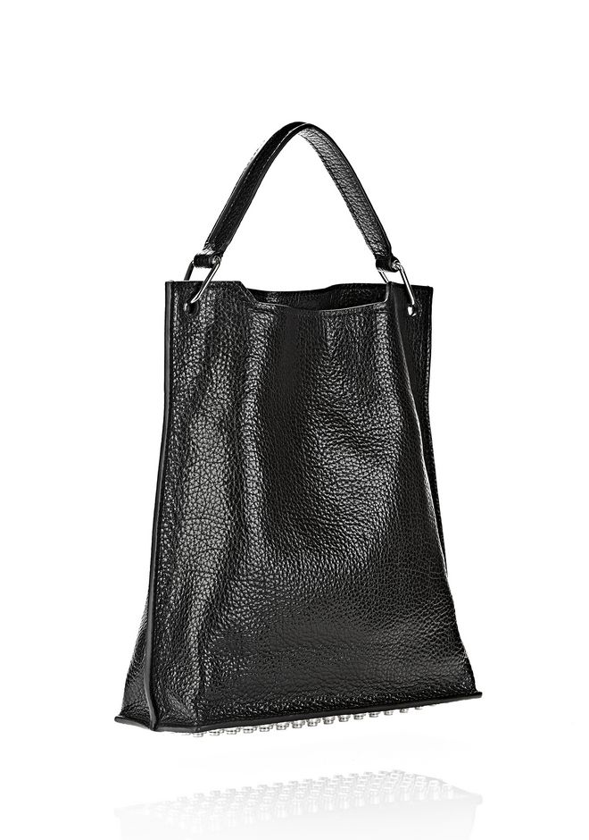ALEXANDER WANG INSIDE OUT DARCY TOTE IN SHINY BLACK TOTE Adult 12_n_d