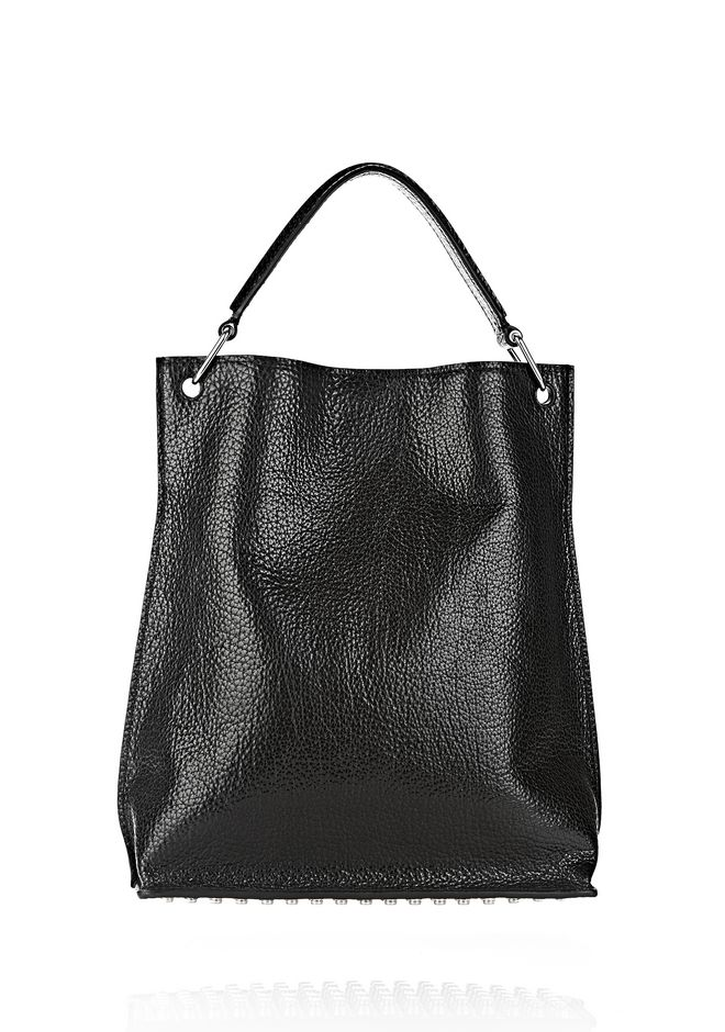 ALEXANDER WANG INSIDE OUT DARCY TOTE IN SHINY BLACK TOTE Adult 12_n_e