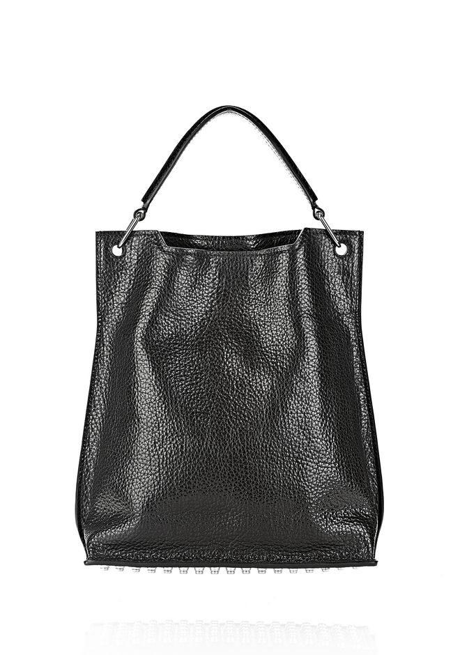 ALEXANDER WANG INSIDE OUT DARCY TOTE IN SHINY BLACK TOTE Adult 12_n_f