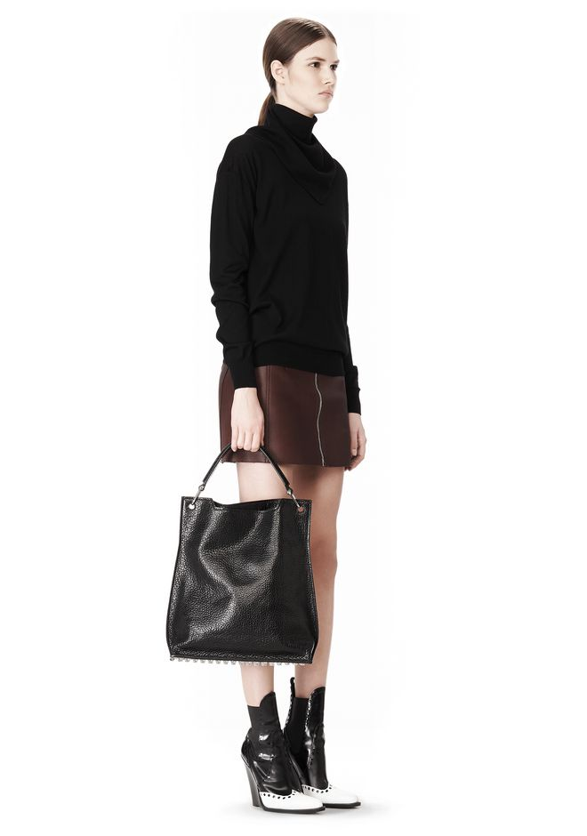 ALEXANDER WANG INSIDE OUT DARCY TOTE IN SHINY BLACK TOTE Adult 12_n_r