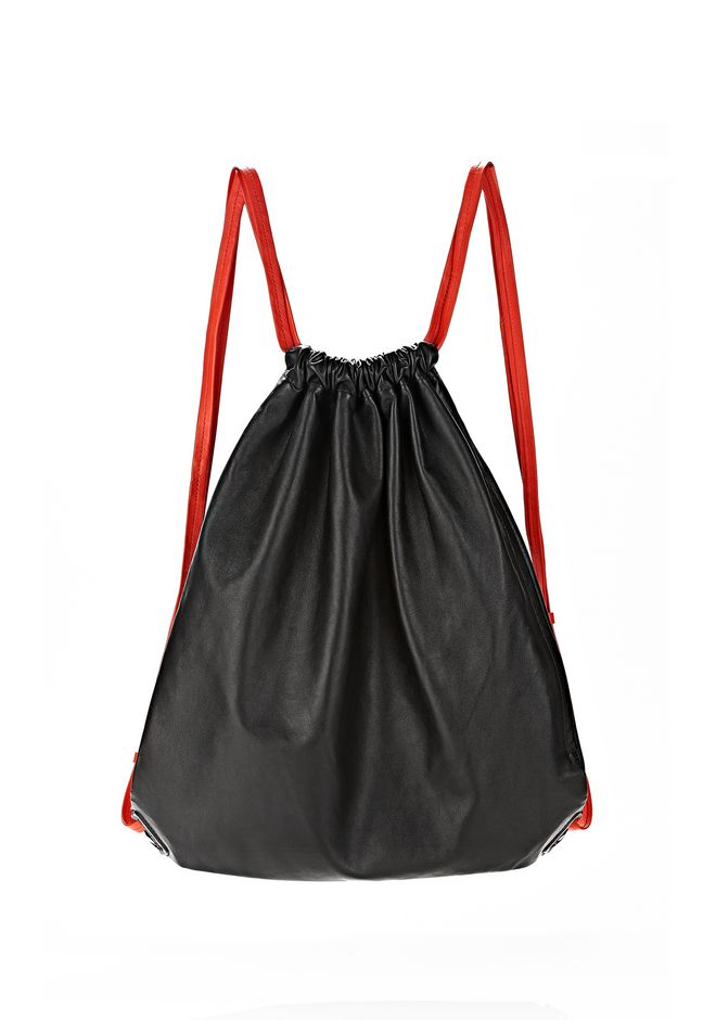 ALEXANDER WANG GYM SACK IN BLACK GLOVE