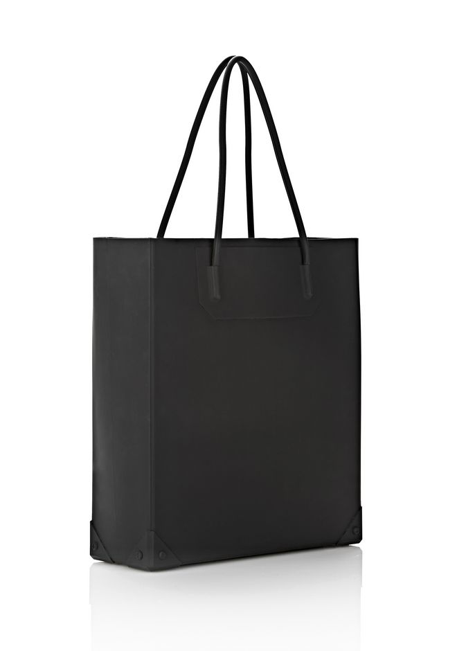ALEXANDER WANG SILICON TOTE IN BLACK TOTE Adult 12_n_e