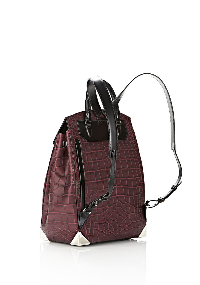 ALEXANDER WANG PRISMA SKELETAL BACKPACK IN BEET BACKPACK Adult 12_n_e