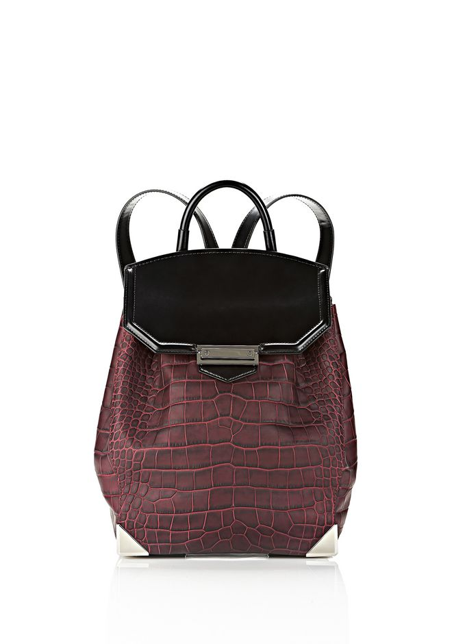 ALEXANDER WANG PRISMA SKELETAL BACKPACK IN BEET BACKPACK Adult 12_n_f