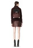 ALEXANDER WANG PRISMA SKELETAL BACKPACK IN BEET BACKPACK Adult 8_n_r