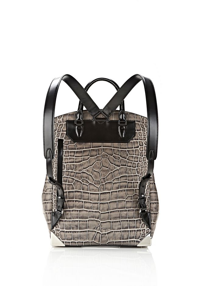 ALEXANDER WANG PRISMA SKELETAL BACKPACK IN OYSTER BACKPACK Adult 12_n_e