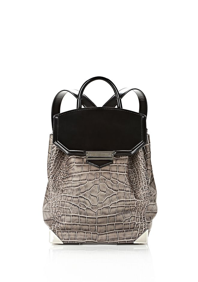 ALEXANDER WANG PRISMA SKELETAL BACKPACK IN OYSTER BACKPACK Adult 12_n_f