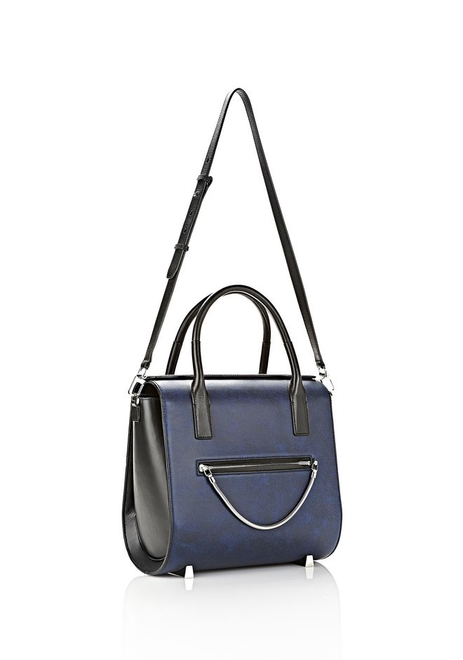 ALEXANDER WANG LARGE CHASTITY SATCHEL IN DISTRESSED NILE TOTE Adult 12_n_e