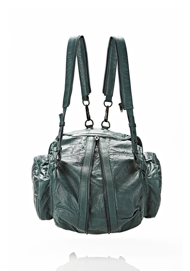 ALEXANDER WANG MARTI BACKPACK IN BOTTLE WITH MATTE BLACK BACKPACK Adult 12_n_e